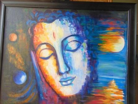 I Am Everywhere | Painting by artist Purnima Gupta | acrylic-oil | canvas