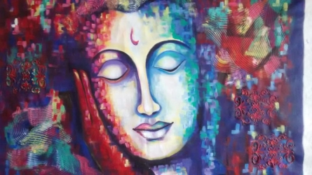 At Peace | Painting by artist Purnima Gupta | acrylic | Canvas