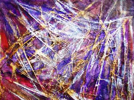 Mixed Media Painting titled 'Life Within I' by artist Purnima Gupta on canvas