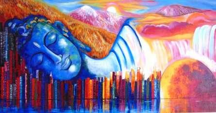 Oneness | Painting by artist Purnima Gupta | acrylic | Canvas
