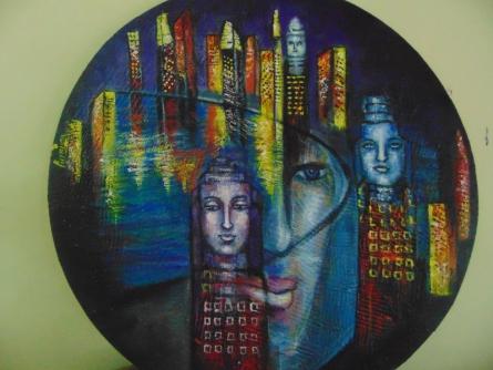 Rising   Painting by artist Purnima Gupta   acrylic   Canvas