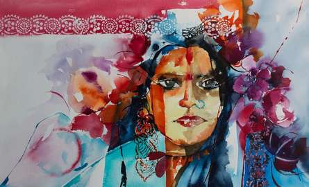 Gypsy | Painting by artist Veronique Piaser-moyen | watercolor | Paper