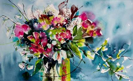 Papillons | Painting by artist Veronique Piaser-moyen | watercolor | Paper