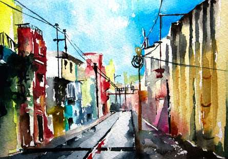 Petit canal | Painting by artist Veronique Piaser-moyen | watercolor | Paper