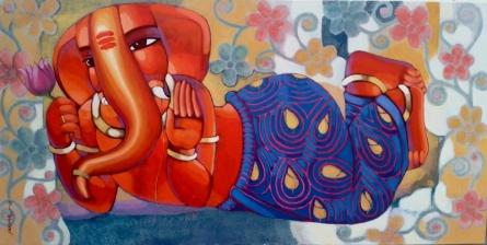 Ganesha 4 | Painting by artist Sekhar Roy | acrylic | canvas