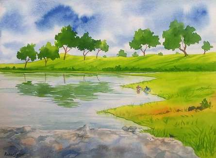 Amenity   Painting by artist Rahul Salve   watercolor   Paper