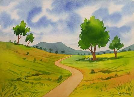 One Fine Day | Painting by artist Rahul Salve | watercolor | Paper