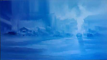 Landscape VI | Painting by artist Narayan Shelke | oil | Canvas