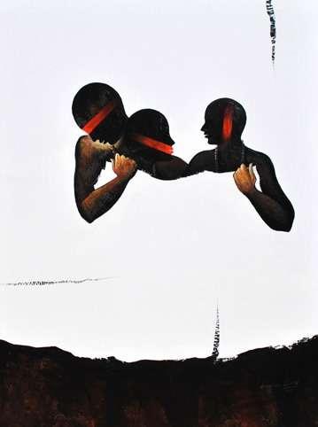 Hidden | Painting by artist Narayan Shelke | acrylic | Canvas