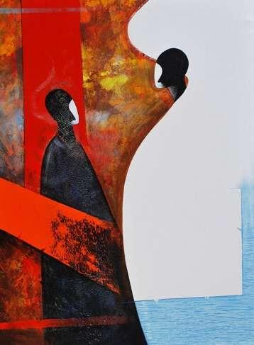 Figurative Acrylic Art Painting title Untitled by artist Narayan Shelke