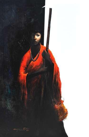 Untitled III | Painting by artist Narayan Shelke | acrylic | Canvas