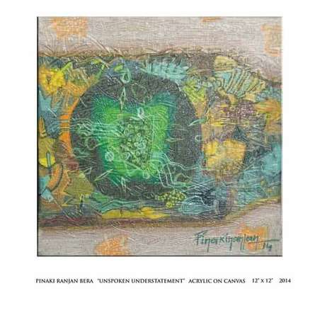Nature Acrylic Art Painting title 'Unsoken Understatement' by artist Pinaki Ranjan Bera