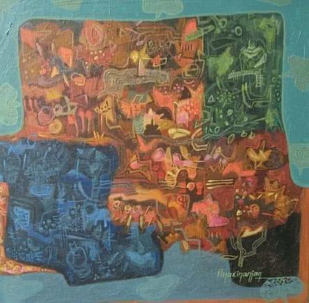 Pinaki Ranjan Bera | Acrylic Painting title Mi Rage on Canvas | Artist Pinaki Ranjan Bera Gallery | ArtZolo.com