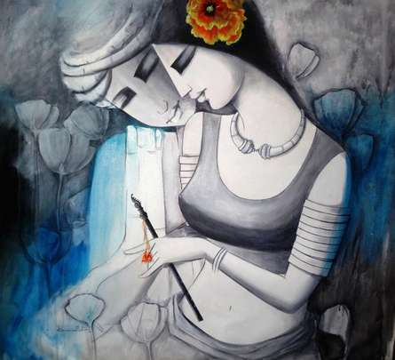 Love | Painting by artist Kamal Nath | acrylic | Canvas