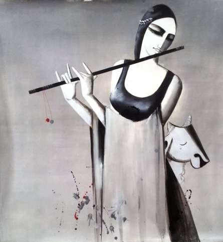 Music | Painting by artist Kamal Nath | acrylic | Canvas