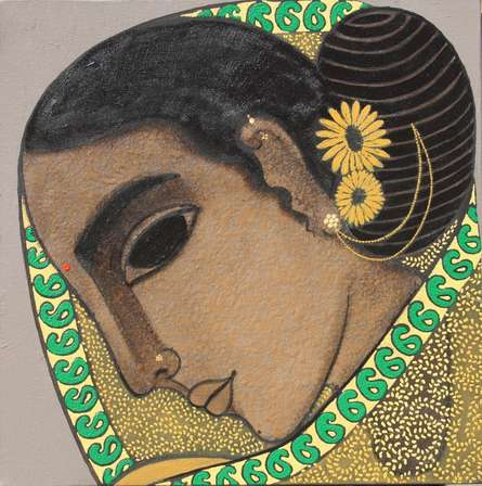 Head I | Painting by artist Mamta Mondkar | acrylic | Canvas