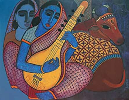 Megh Malhar   Painting by artist Mamta Mondkar   acrylic   Canvas