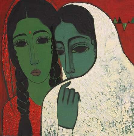 Sakhi | Painting by artist Mamta Mondkar | acrylic | Canvas