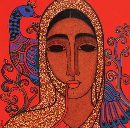 Towards Tradition II | Painting by artist Mamta Mondkar | acrylic | Canvas