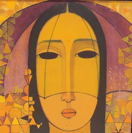Yellow Umbrella | Painting by artist Mamta Mondkar | acrylic | Canvas