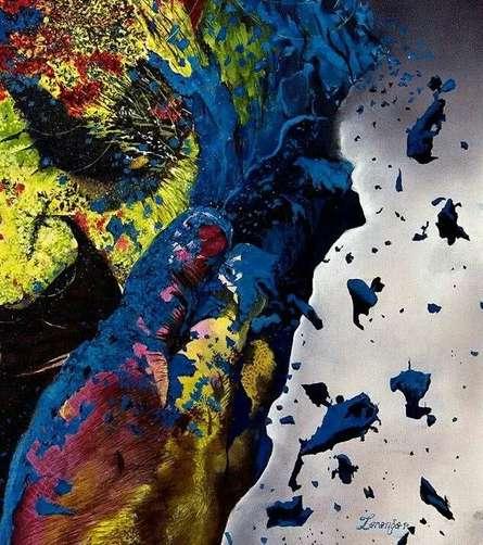 Realistic Oil Art Painting title Story Untold by artist Taranga Boruah