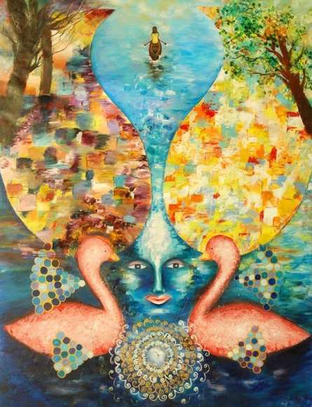 Beyond Duality | Painting by artist Poonam Agarwal | acrylic | Canvas