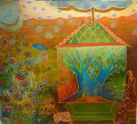 The Only Way Out Is Within | Painting by artist Poonam Agarwal | acrylic | Canvas