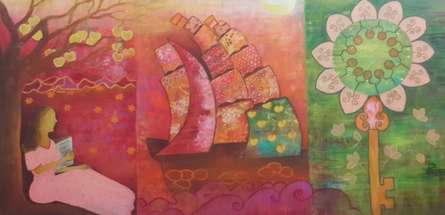 Towards Oneness 2 | Painting by artist Poonam Agarwal | mixed-media | Canvas