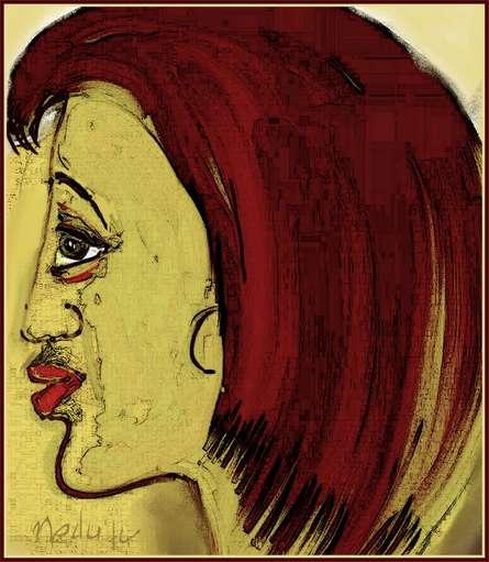 A face | Digital_art by artist Nedunseralathan Rajamanickam | Art print on Canvas