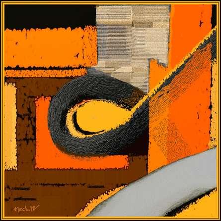 A geometric harmony | Digital_art by artist Nedunseralathan Rajamanickam | Art print on Canvas