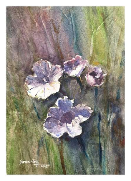 Flowers 1 | Painting by artist Soven Roy | watercolor | Paper