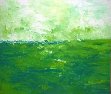 Green Fields | Painting by artist Shubhamshiva | acrylic | Canvas