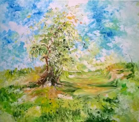 Nature Acrylic Art Painting title Whirlwind by artist Shubhamshiva
