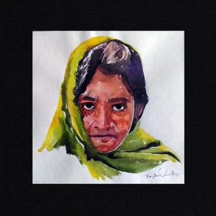 Happy 10 | Painting by artist Solomon Rajendiran | watercolor | PufBoard