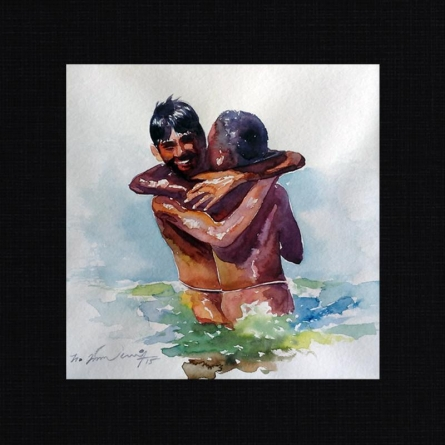 12   Painting by artist Solomon Rajendiran   watercolor   PufBoard