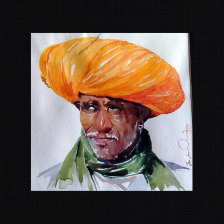 The Experience | Painting by artist Solomon Rajendiran | watercolor | PufBoard