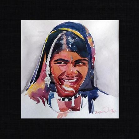 16   Painting by artist Solomon Rajendiran   watercolor   PufBoard