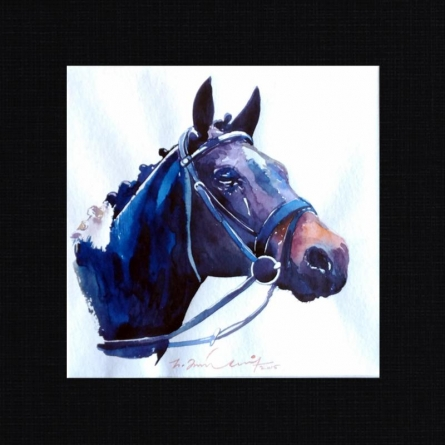 Horse 1 | Painting by artist Solomon Rajendiran | watercolor | PufBoard