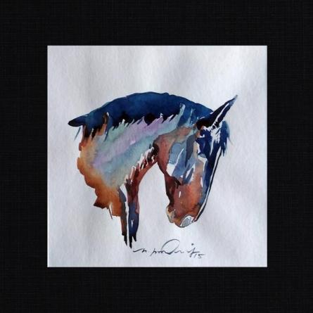 Horse 2 | Painting by artist Solomon Rajendiran | watercolor | PufBoard