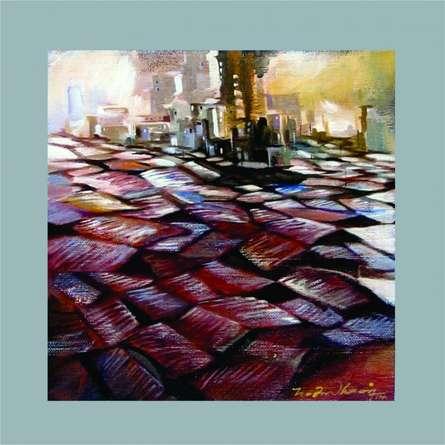 Present landscape | Painting by artist Solomon Rajendiran | acrylic | Canvas