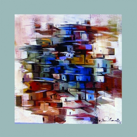Present landscape   Painting by artist Solomon Rajendiran   acrylic   Canvas