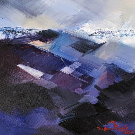 Landscape Acrylic Art Painting title 'Untitled 12' by artist Solomon Rajendiran