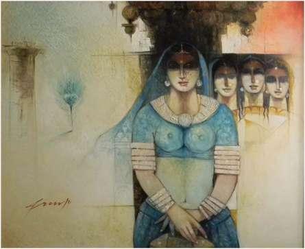 Anubhav | Painting by artist Arun Samadder | oil | Canvas