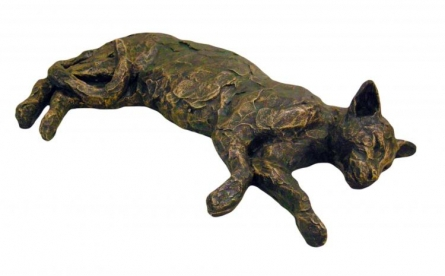 Cat | Sculpture by artist Vnayak Rampure | Fiber Glass