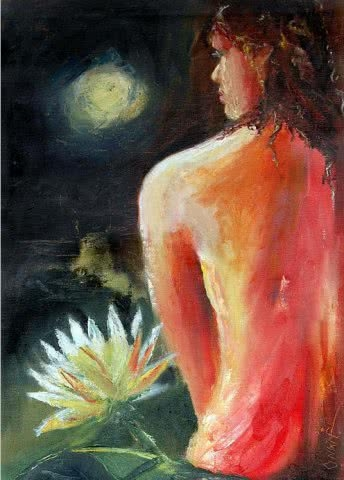 Alone3 | Painting by artist Onkar K | oil | Canvas