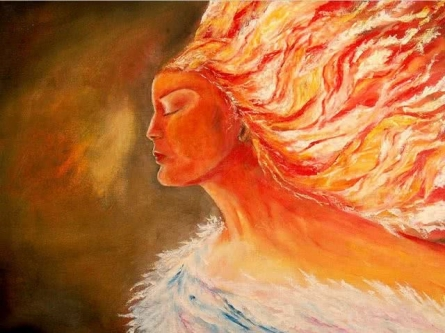 Fire - water | Painting by artist Onkar K | oil | Canvas
