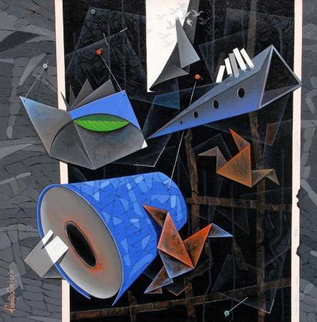 contemporary Acrylic Art Painting title 'Back Whole' by artist Pradip Sarkar