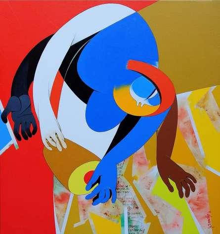 Inspiration I | Painting by artist Pradip Sarkar | acrylic | Canvas