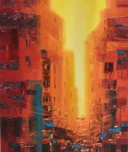 First Light | Painting by artist Purnendu Mandal | oil | Canvas