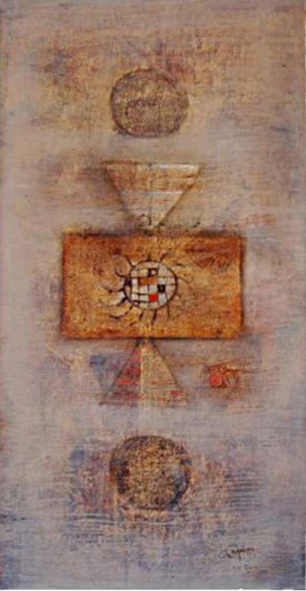 The Divine Abstract | Painting by artist Ramesh Thorat | oil | Canvas